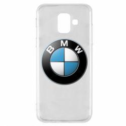 Чехол для Samsung A6 2018 BMW Logo 3D