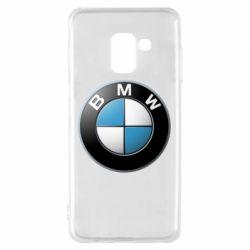 Чехол для Samsung A8 2018 BMW Logo 3D