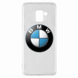 Чехол для Samsung A8+ 2018 BMW Logo 3D