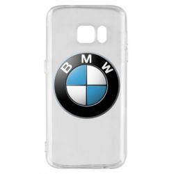 Чехол для Samsung S7 BMW Logo 3D