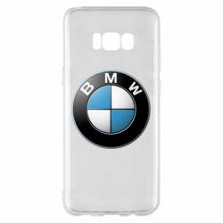 Чехол для Samsung S8+ BMW Logo 3D