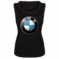 Женская майка BMW Logo 3D - FatLine