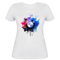 Женская футболка BMW logo art 2