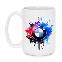 Кружка 420ml BMW logo art 2