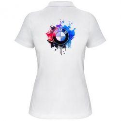 Женская футболка поло BMW logo art 2
