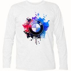 Футболка с длинным рукавом BMW logo art 2