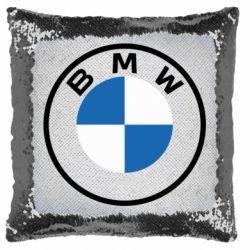 Подушка-хамелеон BMW logotype 2020