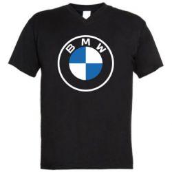 Чоловіча футболка з V-подібним вирізом BMW logotype 2020
