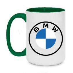 Кружка двоколірна 420ml BMW logotype 2020