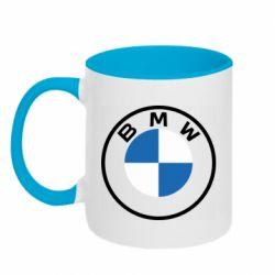 Кружка двоколірна 320ml BMW logotype 2020