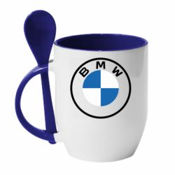 Кружка з керамічною ложкою BMW logotype 2020