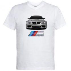 Мужская футболка  с V-образным вырезом BMW M Power Car - FatLine