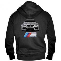 Мужская толстовка на молнии BMW M Power Car - FatLine