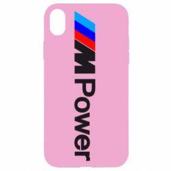 Чехол для iPhone XR BMW M Power logo