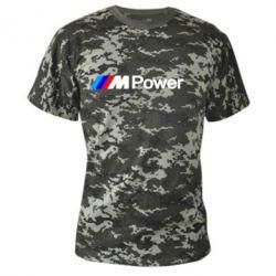 Камуфляжная футболка BMW M Power logo - FatLine