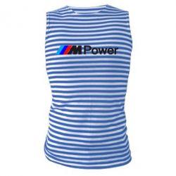 Майка-тельняшка BMW M Power logo - FatLine