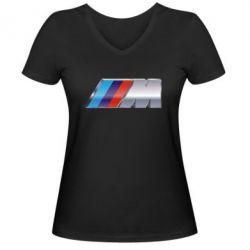 Женская футболка с V-образным вырезом BMW M POWER - FatLine