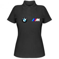 Женская футболка поло BMW M - FatLine