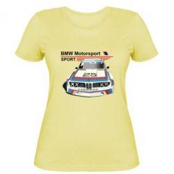 Женская футболка Bmw motorsport