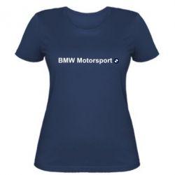 Женская футболка BMW Motorsport - FatLine