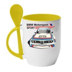 Кружка с керамической ложкой Bmw motorsport