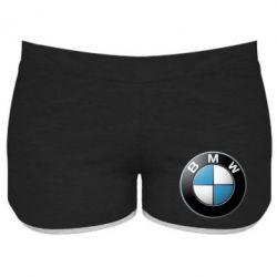 Женские шорты BMW Small Logo - FatLine