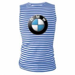 Тельняшка с длинным рукавом BMW Small Logo - FatLine