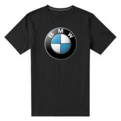 Женская футболка с V-образным вырезом BMW Small Logo - FatLine