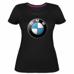 Женская стрейчевая футболка BMW Small Logo