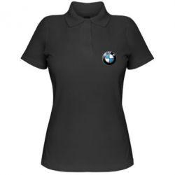 Женская футболка поло BMW Small Logo - FatLine