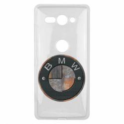 Купить Чехол для Sony Xperia XZ2 Compact BMW Steel Logo, FatLine