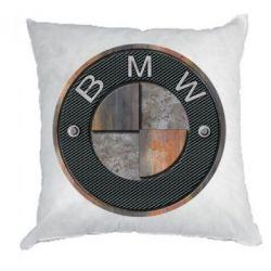 Подушка BMW Steel Logo