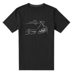 Мужская стрейчевая футболка BMW vector