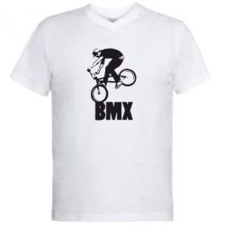 Мужская футболка  с V-образным вырезом Bmx Boy - FatLine