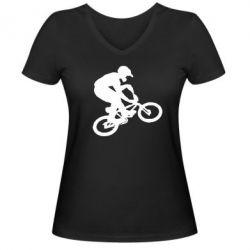 Женская футболка с V-образным вырезом BMX Extreme - FatLine