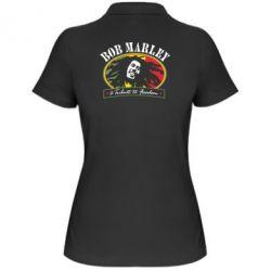 Женская футболка поло Bob Marley A Tribute To Freedom - FatLine