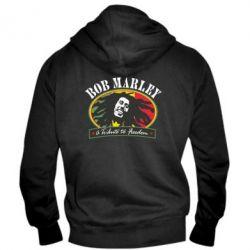 Мужская толстовка на молнии Bob Marley A Tribute To Freedom - FatLine