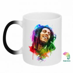 Кружка-хамелеон Bob Marley Colorful Art