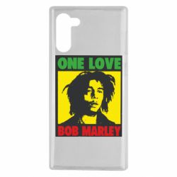Чехол для Samsung Note 10 Bob Marley One Love