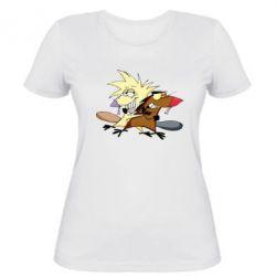 Женская футболка Бобры обнимашки