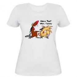 Женская футболка Бобры смеются