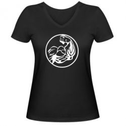 Женская футболка с V-образным вырезом Бодибилдинг - FatLine