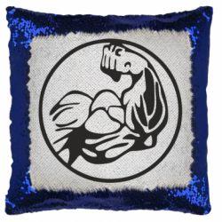 Подушка-хамелеон Бодибилдинг
