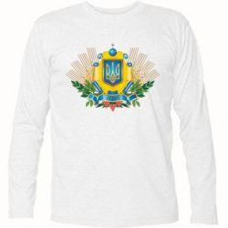 Футболка с длинным рукавом Бог береже Україну