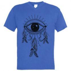 Купить Мужская футболка с V-образным вырезом Boho Eye, FatLine