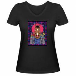 Женская футболка с V-образным вырезом Bojack Horseman icon