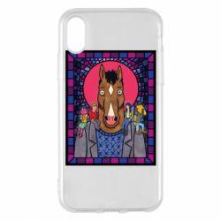 Чехол для iPhone X/Xs Bojack Horseman icon