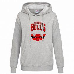 Женская толстовка Большой логотип Chicago Bulls - FatLine
