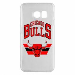 Чохол для Samsung S6 EDGE Великий логотип Chicago Bulls