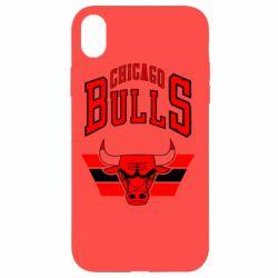 Чохол для iPhone XR Великий логотип Chicago Bulls